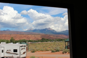 View from camper doorway, Moab UT @ 2013 www.CatherineEmclean.com