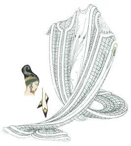 "The Erte designs that inspired Catherine to create Darq's ""2013 Great Gatsby New Year's Eve Party Attire."" @ 2013 www.CatherineEmclean.com"