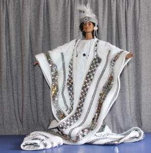 Darq's Erte-inspired stole and dress made by Catherine E. McLean @ 2013