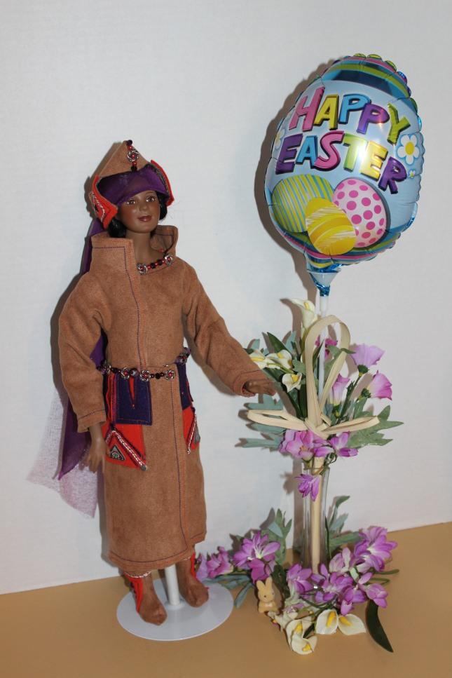 Darq in her Erte-inspired Coat and Hat @ 2014 www.CatherineEmclean.com
